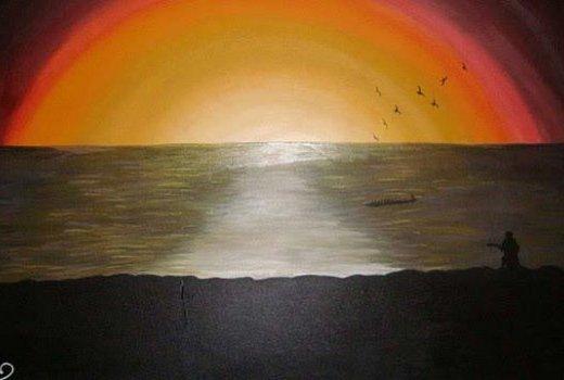 Mandela Diouf - peintre Sénégalais-immigration clandestine