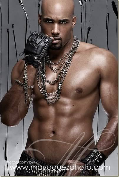 muscular black men