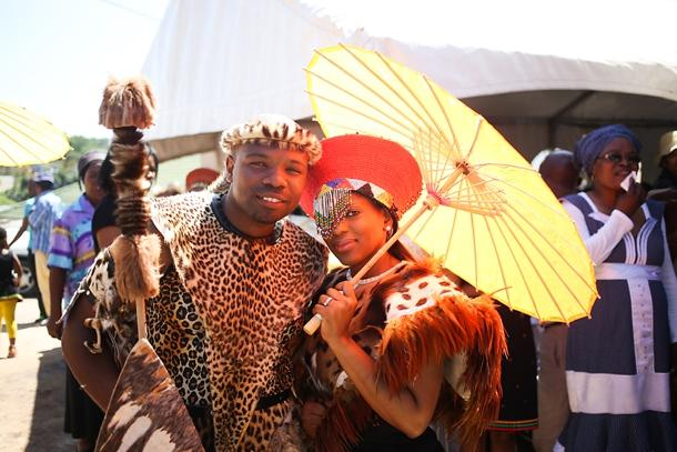 Tenue traditionnelle africain-zulu-wedding