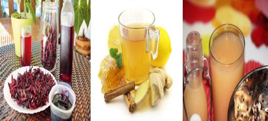 Les vertus et bienfaits des jus de Bissap, jus de gingembre et jus de baobab