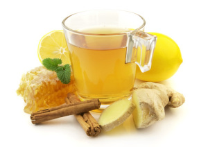 Ginger tea with honig and lemin