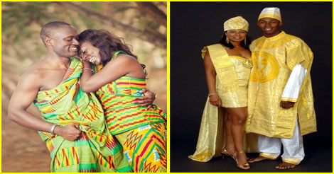 Couple en tenue traditionnelle africaine fac