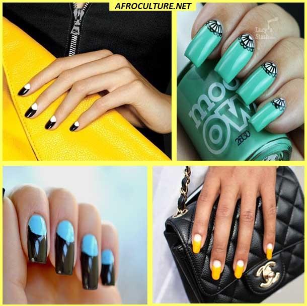 Half-moon manicure -afroculture