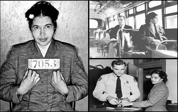 Rosa Parks arrété et incarcéré suite au refus de se lever