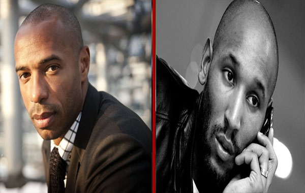 Thierry Henry - Nicolas Anelka - coupe chauve et sexy - homme noir