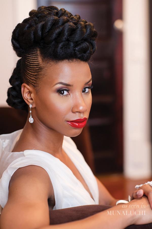 Photo coiffure mariage afro antillais