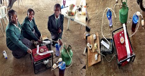 adolescentes de 13 à 14 ans créent générateur d'électricité avec de l'urine