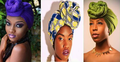 comment attacher un foulard turban- style top knot
