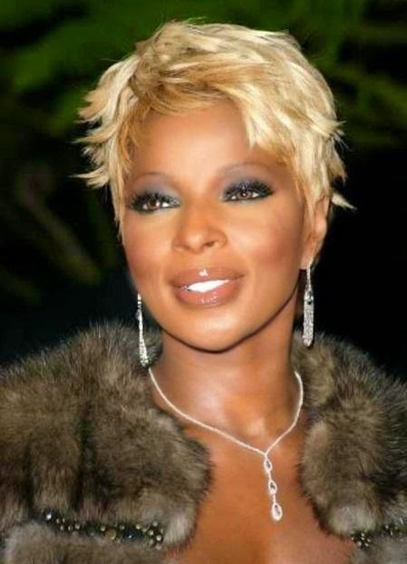 Mary J blidge coupe courte femme noire et métisse