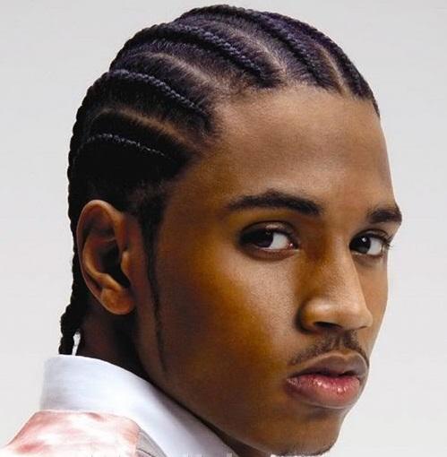 Trey Songz-tresses plaquées - cornrow hairstyle