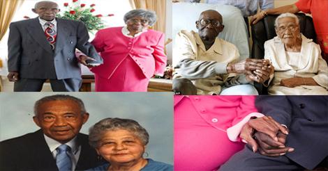 couples noirs mariés depuis plus de 80 ans de mariage