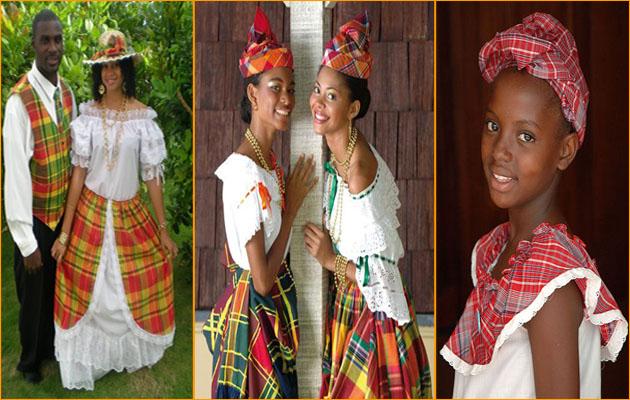costumes traditionnelles des caraïbes et des antilles