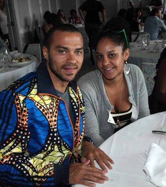 MIAMI BEACH, FL - DECEMBER 03: (L-R) Actor Jesse Williams and fiance Arin attend EAT MY ART hosted by Russell Simmons, Artspace.com, Kehinde Wiley and Melanie Fiona at Mondrian Miami on December 3, 2011 in Miami Beach, Florida. (Photo by Johnny Nunez/WireImage) *** Local Caption *** Jesse Williams;