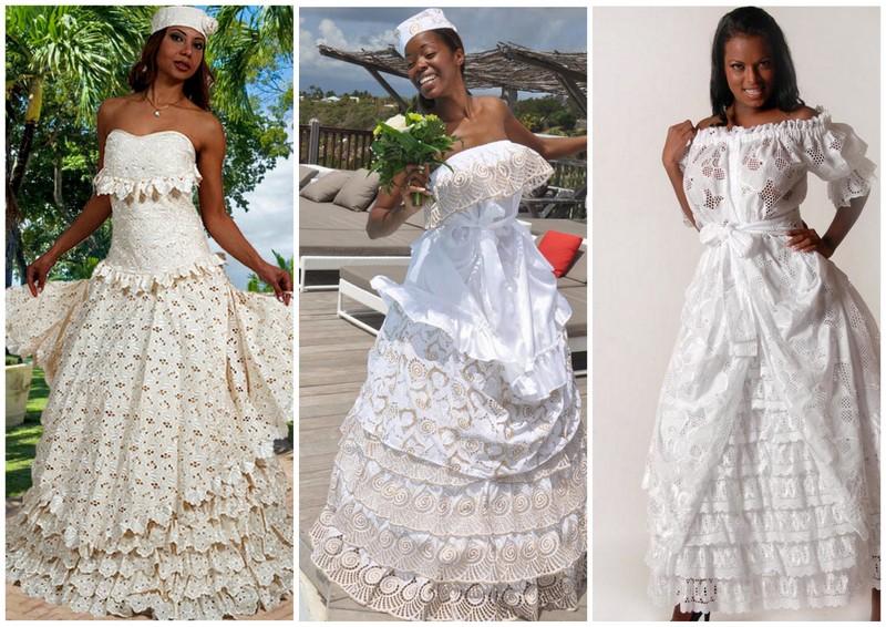 Robe De Mariee Antillaise Et Caribeenne Traditionnelle Afroculture Net