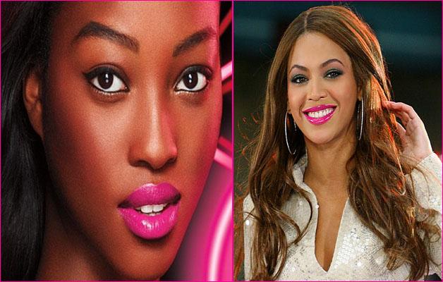 rouge à lèvres rose - femme noire et métisse pink lipstick