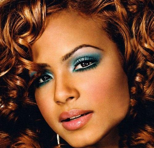 christina-milian-maquillage vert