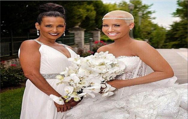 coiffure chauve et rasée mariage femme noire et métisse-