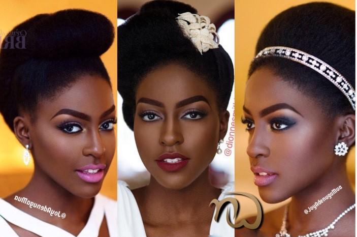 coiffure de mariage - femme noire