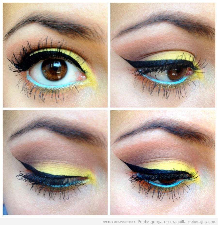 maquillage-jaune-bleu-