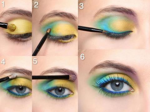 maquillage-pour-yeux-jaune-vert