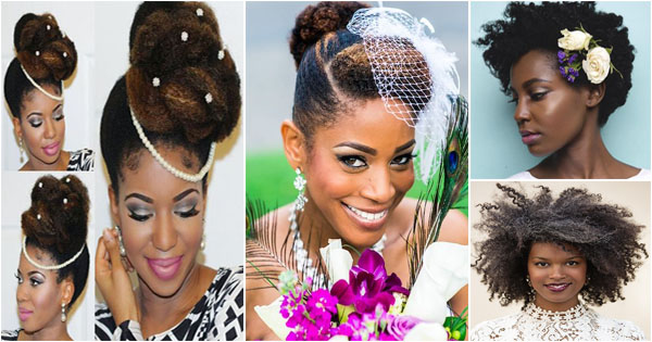 Natural Wedding Hairstyles For Black Women Bridal Beauty Afroculture Net