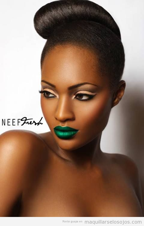 green-lipstick-black-girl