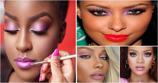 maquillage-rose-yeux-peau-noire-metisse-pink-eyeshadow-black-skin