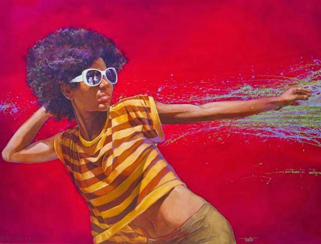 cuadros-de-mujer-negra-pintada-al-oleo