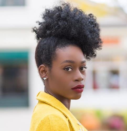 Afro puff - quick hairstyle for black women - Afroculture.net