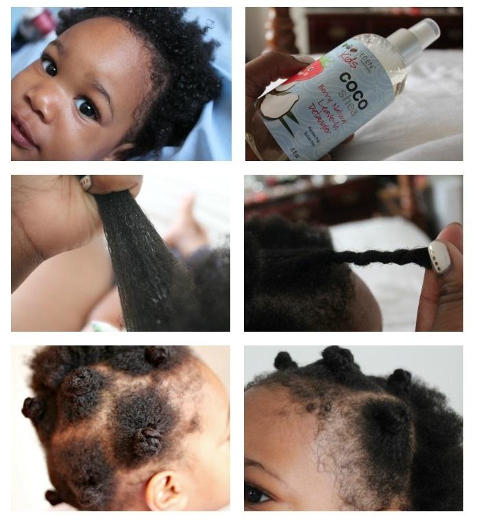 Petits Choux Bantu Knots Coiffure Pour Bebe Aux Cheveux Crepus