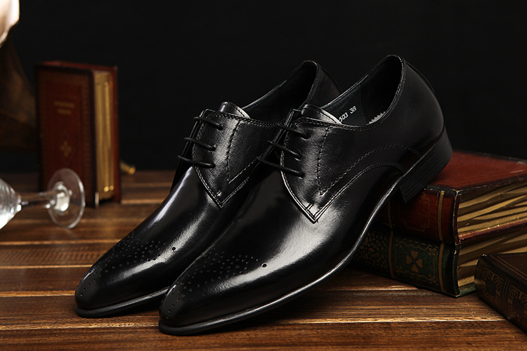 Handmade Hommes Noir//Cerise Derby Chaussure Oxford Richelieu à Classique Formelle Hommes Wear