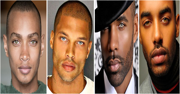 12 Black Male Supermodels With Green Blue And Hazel Eyes Afroculture Net
