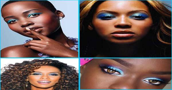 Blue Eyeshadow On Black Women