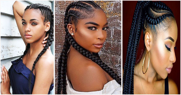 Ghana Braids or Banana cornrows: ideas of African hairstyles ...