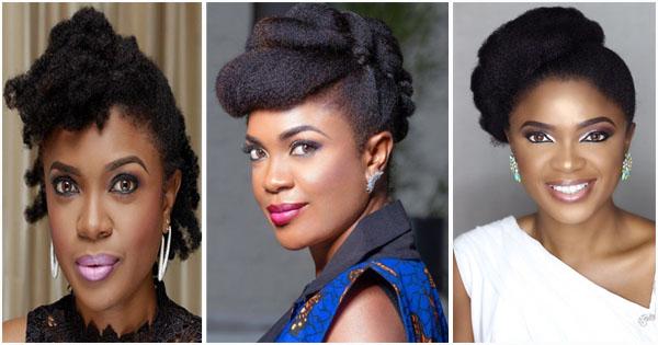 Phenomenal Omoni Oboli 16 Beautiful Natural Hairstyles Of The Nollywood Natural Hairstyles Runnerswayorg