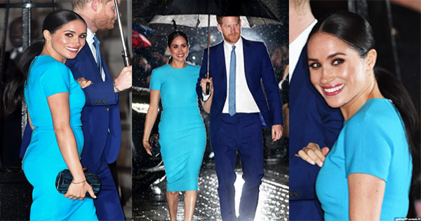 meghan markle looks stunning in a blue victoria beckam dress at the 2020 endeavor fund awards afroculture net meghan markle looks stunning in a blue